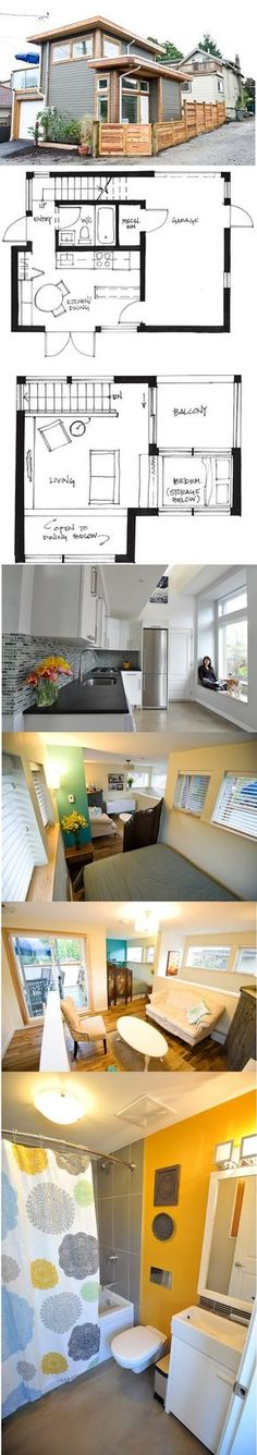 """I call this a studio house. Except for lack of closet space, bookshelves, and studio space, this is great for a single person. But even for just two people, I would feel crowded. Bathroom is """"normal"""" sized tho."""