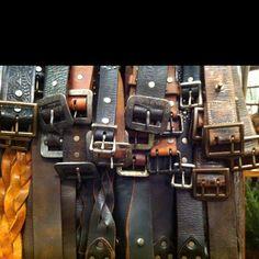 Vintage looking leather