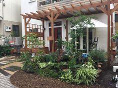 #ガーデン#ガーデンデザイン#ナチュラルガーデン Pergola, Outdoor Structures, Garden, Garten, Outdoor Pergola, Gardens, Arbors, Tuin, Yard