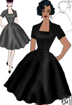 1940s Folded Neckline Dress by Amber Middaugh (currently in voting - click the link and vote YES to give it a shot at production) Thanks!--- Save 37% at ChicStar.com --Coupon: AMBER37