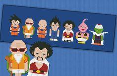 Dragon Ball parody  Cross stitch PDF pattern por cloudsfactory