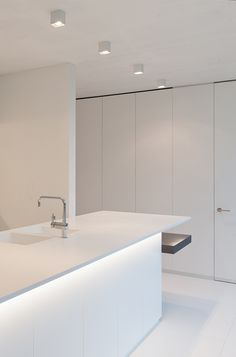 All white kitchen, Interior design by Filip Deslee _