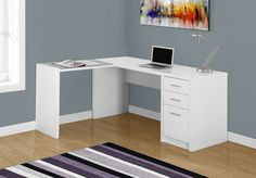 Computer Desk with 3 Drawers