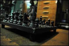 recycled iron chessboard