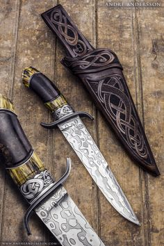 Balders Bowie | André Andersson Custom Knives https://www.etsy.com/listing/256776999/leather-pearl-earring-set-freshwater?ref=shop_home_active_26