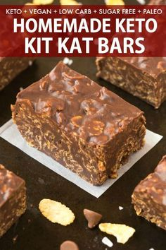 These Homemade Keto Kit Kat Bars are a GAME CHANGER! 100% sugar free, low carb and dairy free, you only need 5 minutes and 5 ingredients to make these healthy candy bars LOADED with crispy, crunchy texture! #ketodessert #ketogenicdessert #vegandessert #ketochocolate #nobakedessert