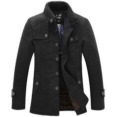Winter Mens Warm Fleece Jacket Coat Wool Jacket Plus Size S-XXL