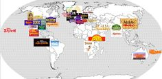 The geography of Disney Movies - The World