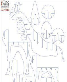 Jirafa estantería planos Cnc corte estantería por CncFactory