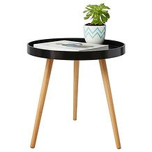 Round Side Table - Black