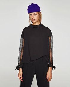 Image 2 de BLOUSE À COL FLUIDE de Zara