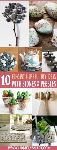 Stones and pebbles are some of the easiest material that you can find out there. Yes, they too can become DIY materials! Discover new possibilities with them today! See more via homelysmart.com