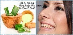Cómo hacer pre base de maquillaje casero con aloe vera ~ Belleza y Peinados