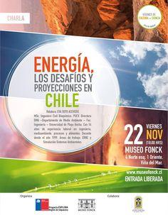"""""""Energía, los desafíos y proyecciones en Chile"""" en Viernes de Cultura + Ciencia"""