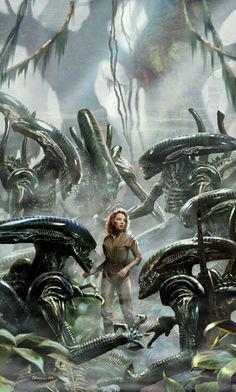 Every ladies fantasy - Alien Orgy lol Alien Vs Predator, Predator Movie, Predator Alien, Alien Film, Alien Art, King Kong, Cyberpunk, Alien Photos, Science Fiction