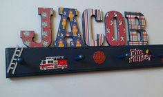 Hey, I found this really awesome Etsy listing at http://www.etsy.com/listing/127019904/childrens-hatcoat-rack-firefighter-fire