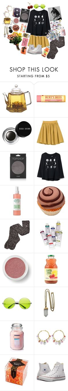 """""""All These Things That Make My Head Spin"""" by tomorrowspirit ❤ liked on Polyvore featuring Burt's Bees, Bobbi Brown Cosmetics, Topshop, Mario Badescu Skin Care, UGG, Bare Escentuals, CASSETTE, Lacey Ryan, Yankee Candle and Alice Cicolini"""