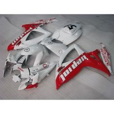 Suzuki GSX-R 600/750 2006-2007 K6 Injection ABS Fairing - Jordan - White/Red | $679.00