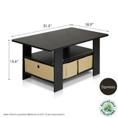 Wood Brown Living Room Center Table Furniture with Bins Storage Shelf Coffee New Coffee Table Rectangle, Lift Top Coffee Table, Cool Coffee Tables, Coffee Table With Storage, Coffee Table Design, Modern Coffee Tables, Coffee Table For Small Living Room, Small Living Rooms, Sofa Tables