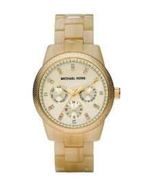 michael kors horn jet set watch.