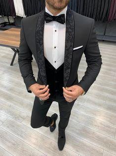 Deo Suits – BOJONI Slim Fit Tuxedo, Tuxedo For Men, Wedding Men, Wedding Suits, Men's Tuxedo Wedding, Costume Garçon, Tuxedo Colors, Blazer Outfits Men, Black Suit Men