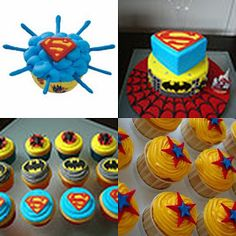 Superman cupcake ideas