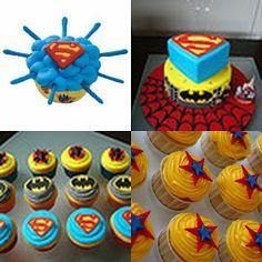 Superman cupcake ideas