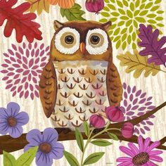 Autumn Woodland-Owl-light by Jennifer Brinley | Ruth Levison Design
