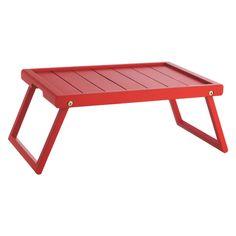 TIFFANY Red wooden folding breakfast tray