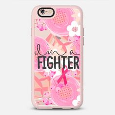 I Am A Fighter Floral 2 Breast Cancer Awareness  - New Standard iPhone 6 Case in Pink Gray and Clear by Jande Laulu | @casetify