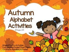This BRAND NEW set includes an original poem for every letter in the alphabet.  Each poem is centered around the season of Fall.  In addition to the poetry alphabet pages, I have included two pocket chart sets for the Apple Poem, and the Fall Colors poem.