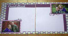 Purple wedding DIY scrapbook guestbook