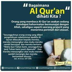 Bagaimana Al Quran di hati kita? Islam Hadith, Islam Muslim, Islam Quran, Honesty Quotes, Faith Quotes, Life Quotes, Qoutes, Muslim Quotes, Islamic Quotes