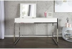 COUTURE - design dressing table white incl. mirror and storage by Neofurn