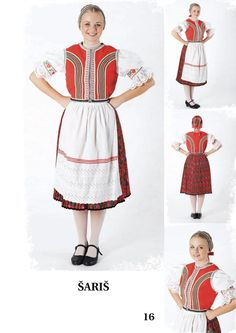 Šariš, Slovakia Folk Costume, Costumes, Traditional Clothes, European Countries, Saris, World Cultures, Czech Republic, Montessori, Fashion