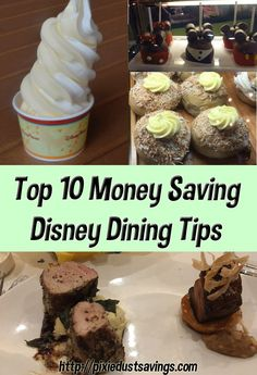 Disney on a Budget  10 Money Saving Disney Dining Tips via @pixiedustsaving