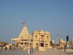 "Somnath Temple in Gujarat. ""Somnath"" means Lord of the moon. According to legend, the temple was built by the God of the Moon as a thank you when Shiva had listed to his prayer of ridding him of a curse that was placed on him by his father in law."
