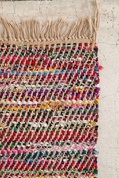 Magical Thinking Anissa Jute Rag Rug - this rug is gorgeous