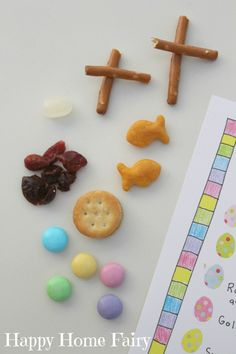 I adore this idea. An Easter snack that is meaningful but fun. Comes with a free printable! crafts christian Easter Story Snack Mix - FREE Printable - Happy Home Fairy Easter Snacks, Easter Party, Easter Gift, Easter Table, Easter Decor, Easter Centerpiece, Easter Eggs, Easter Jesus Crafts, Jesus Easter
