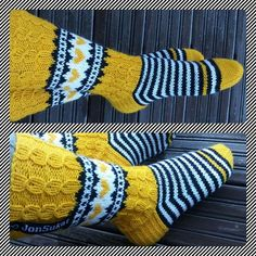 Knitted Mittens Pattern, Knit Mittens, Knitting Socks, Knitting Patterns, Crochet Crafts, Knit Crochet, Wool Socks, Fair Isle Knitting, Knitting Needles