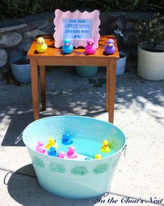 baby shower carnival games - lucky duck