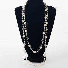 Simulated pearl long sweater necklaces for women rhinestone four leaf clovers gold plated chain female beaded necklaces MDJB207 //Price: $11.60 & FREE Shipping //     #hairextension #style #beauty #woman #love