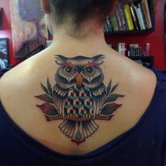 Owl Tattoo on Back - 55 Awesome Owl Tattoos | Art and Design