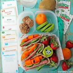 Healthy Lunch Challenge!  Packed in @EasyLunchboxes by mamabelly.com