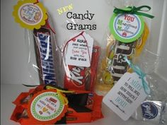 18 NEW!- Adorable candy themed gift tags for all occasions - some personalized! Unique little gift ideas! Candy Bar Gifts, Candy Bar Cookies, Craft Gifts, Diy Gifts, Candy Puns, Employee Appreciation Gifts, Volunteer Appreciation, Candy Grams, Yorky