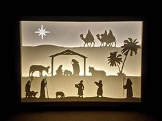 Résultats de recherche d'images pour « nativity light silhouettes »