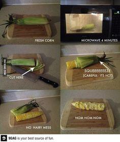 Delicious fresh corn - no way!  :D