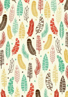 Falling Feathers Art Print by Claire Lordon