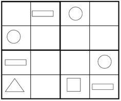 Sudoku for Kids: Kids Shape Sudoku Game 1 (PDF Version Below)