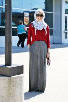 Pretty Maxi Hijab Outfit and Style #hijab #maxihijaboutfit